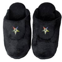Order of Eastern Star Low Pro Stripe Slippers - black