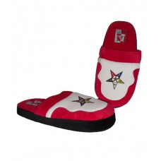 Order of Eastern Star Low Pro Stripe Slippers - red and white