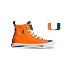 University of Miami High Top Tennis Shoes